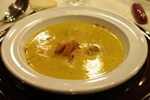 Supa crema de morcovi cu creveti