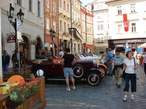 Praga - Drumul din Piata Veche spre Podul Charles
