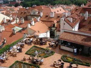 Praga - Terasa Restaurantului Cowboys