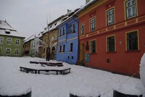 Sighisoara - Piata Centrala plina de culoare