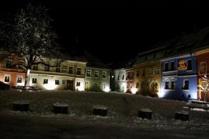 Sighisoara - Piata Mare frumos luminata