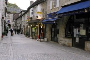 Strada principala din Rocamadour