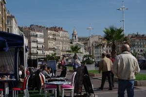 Marsilia - Terase insirate pe malul portului