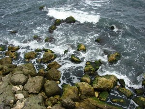 Pietre batute de valurile reci