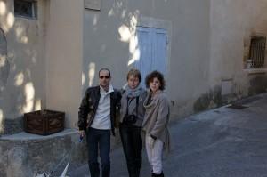 Ionut, eu si Evelina pe stradute in Provence
