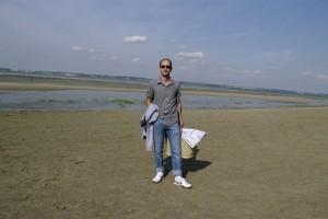 Ionut pe plaja in Franta