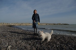 In luna ianuarie, acum trei ani, pe plaja din Faleza, la cateva minute de apartamentul nostru