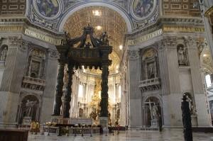 Baldachinul lui Bernini din San Pietro