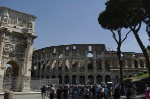 Colosseum si Arcul de Triumf al lui Marc Aurelius
