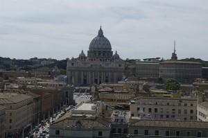 Vaticanul vazut de la Sant Angelo