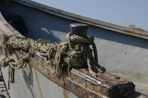 Detaliu barca de pescari