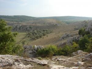 Dealurile dobrogene vazute de pe pietroaiele Cheilor