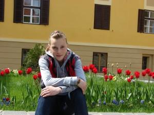 In unul dintre putinele concedii petrecute impreuna in timp ce facea atletism - Sibiu
