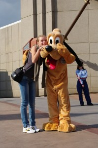 Impreuna cu Pluto, la Disneyland