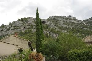 Stancile de deasupra Fontaine de Vaucluse