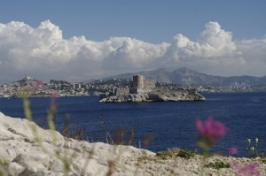Marsilia si Insula d'If vazute de pe Frioul