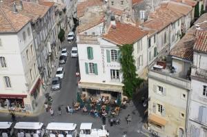 Un coltisor din Arles vazut de sus, de la Arenele Romane