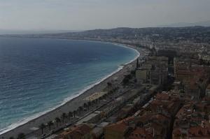 Promenade des Anglais si Mediterana vazute de sus