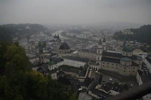Salzburg vazut printre nori