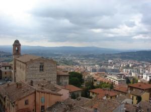 Perugia cu acoperisurile ei rosii