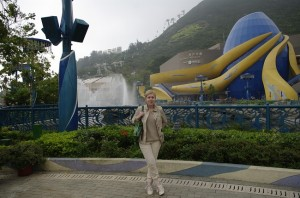 La inceputul vizitei in Ocean Park