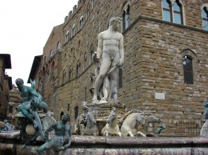 Fantana lui Neptun din Piazza della Signoria