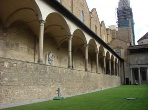 Curtea Bibliotecii Laurentiane proiectata de Michelangelo