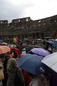 Zi cu ploaie la Coloseum