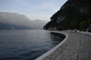 Promenada in Riva del Garda, unde am stat noi