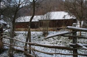 Casa traditionala acoperita cu sindrila