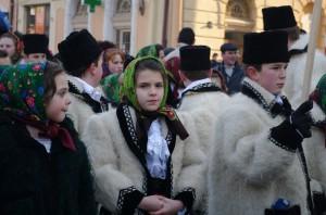 In Sighetu Marmatiei, la Festivalul Datinilor de Iarna