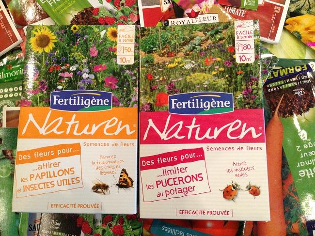 Flori pentru gargarite, albine si fluturi